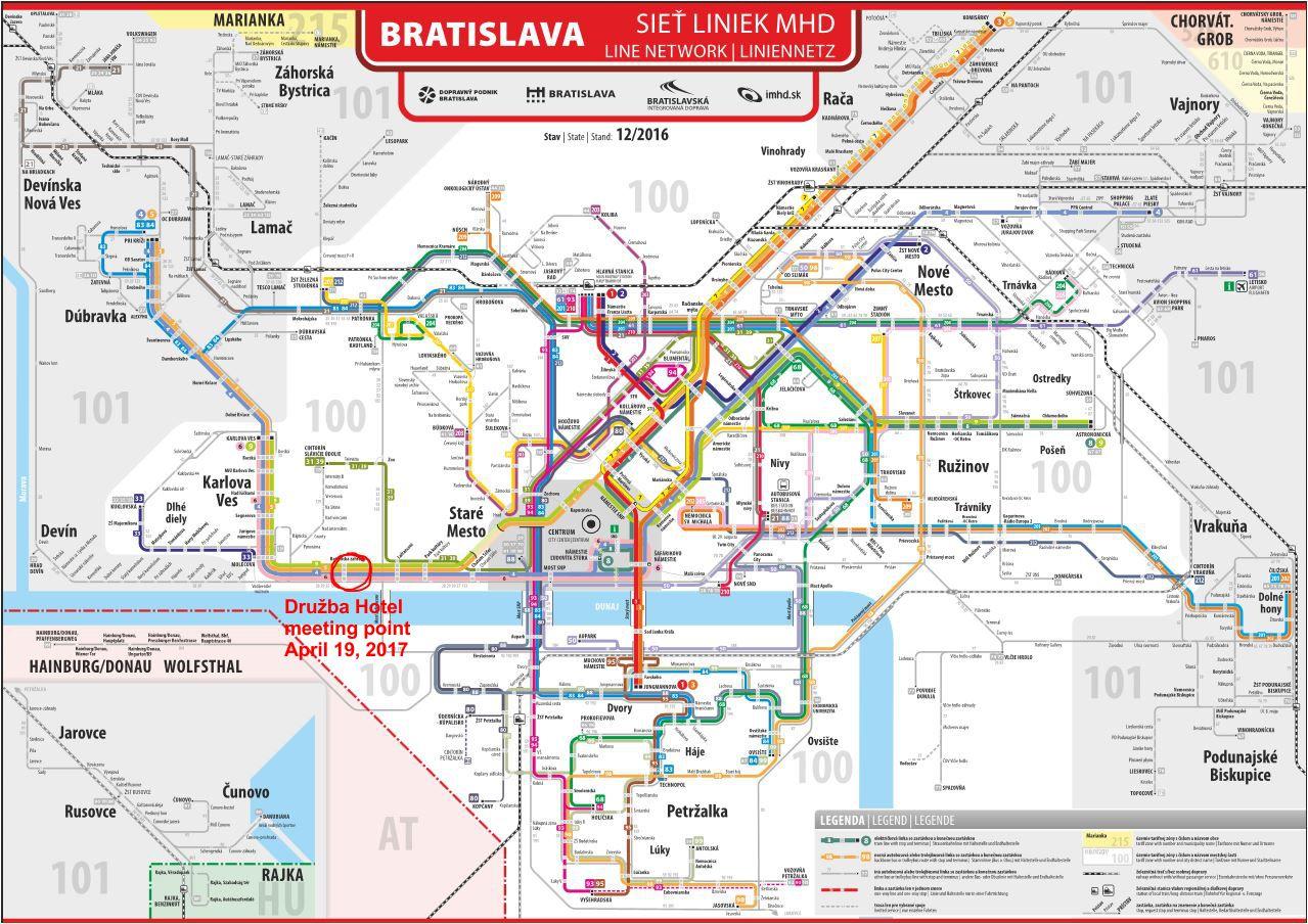 Bratislava line network